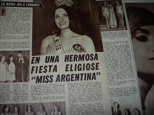 miss argentina mar sabaliuskas clipping revista radiolandia