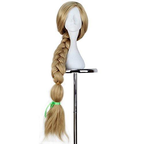 miss u cabello largo pelo rubio tejiendo trenza pelo hallow
