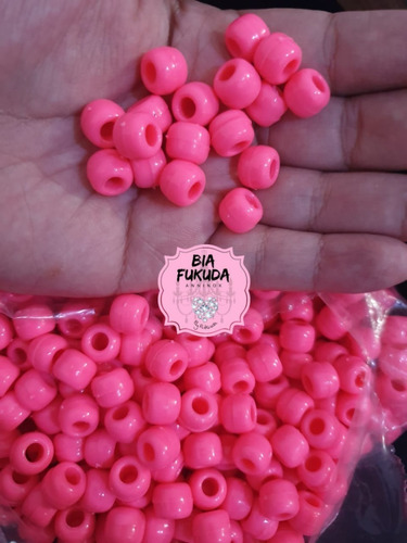 missangão tererê rosa c. 10mm 50grs artesanato miçanga pesca