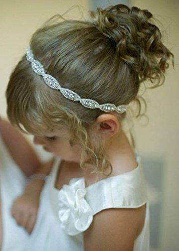missgrace cristal flor chica de la cabeza de la boda del pe