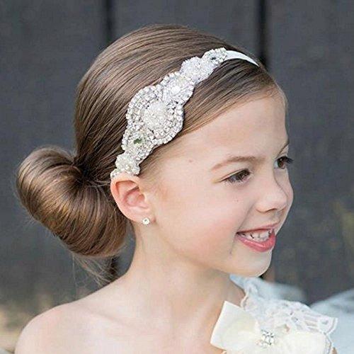 missgrace flower girl crystal rhinestones headband accesori