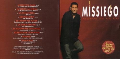 missiego -  mueve tu cucu ( cd original )