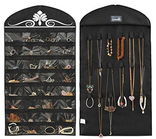 misslo jewelry hanging organizador no tejido 32 bolsillos 18