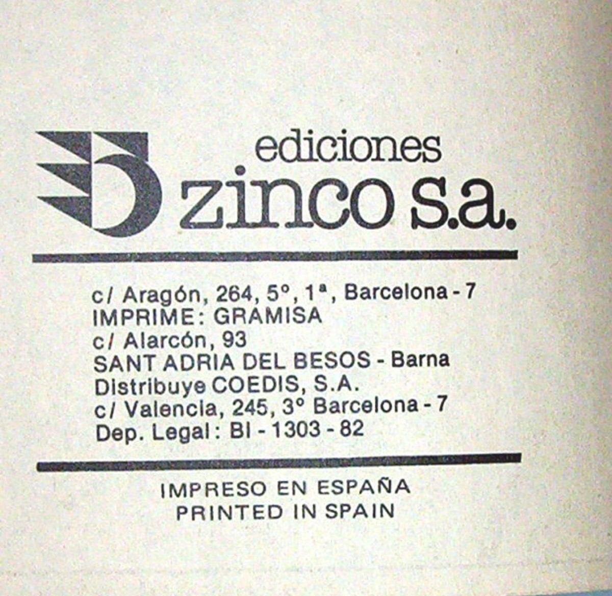 Resultado de imagen de Ediciones Zinco