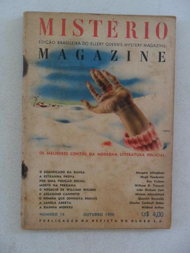 mistério magazine nº 18! out 1950! livraria do globo!
