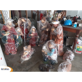Misterio Nacimiento Pesebre Grande De Fibrade Vidrio Navidad