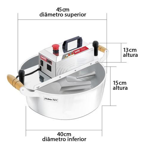 misturadeira misturela cozedeira coxinhas em aço inox 21 l