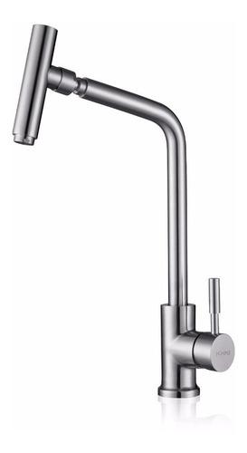 misturador monocomando em aço inox 304 p/ cozinha - fontana