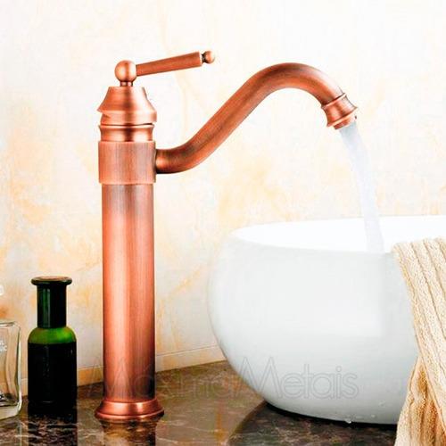 misturador monocomando torneira retrô banheiro colonial rt13