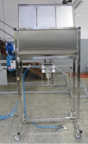 misturador ribbon aço inox - com dosador acoplado