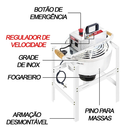 misturela mexedor misturador panela prmq10 21 lts saro
