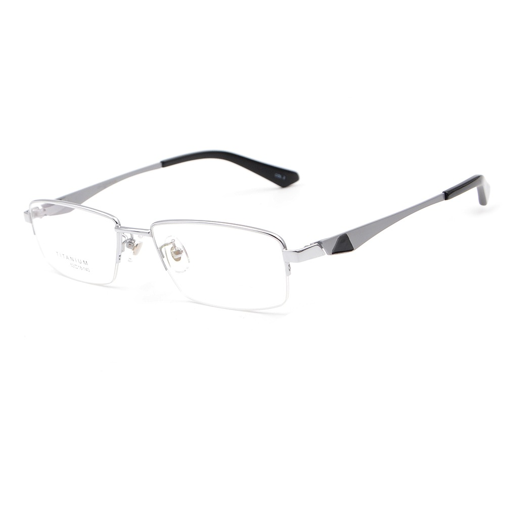 Mitad Sin Montura Gafas Estados Unidos Titanio... (silver ...