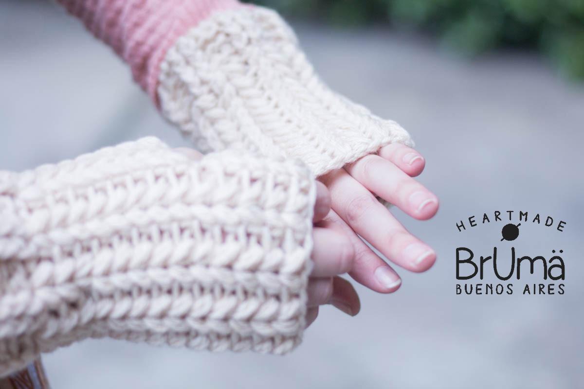 Mitones Crochet (guantes Sin Dedos) - $ 150,00 en Mercado Libre