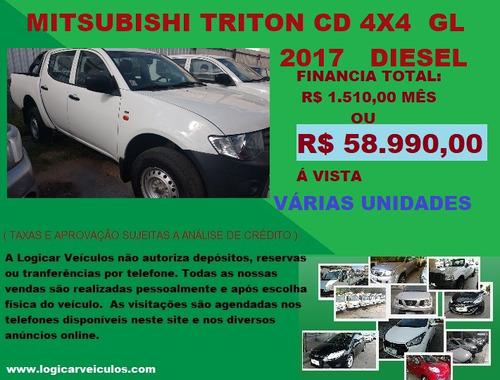 mitsubish l200 cd 4x4 gl 2017 diesel