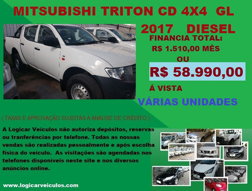 mitsubish l200 cd 4x4 gl 2018 diesel