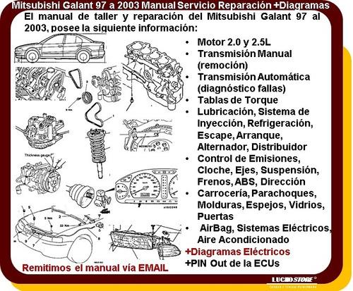 mitsubishi galant manual taller reparacion diagramas 97 a 03