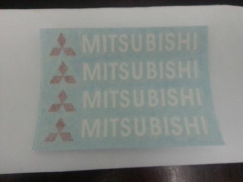 mitsubishi - kit de 4 adesivos para rodas, espelhos ou porta