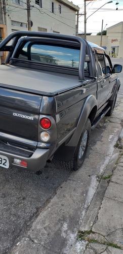 mitsubishi l200 2.5 outdoor gls cab. dupla 4x4 4p 2009