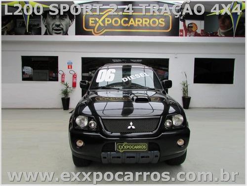 mitsubishi l200 2.5 sport hpe 4x4- ano 2006 - bem conservada