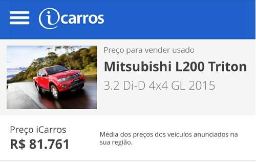 mitsubishi l200 3.2 triton gl cab. dupla 4x4 4p 2015