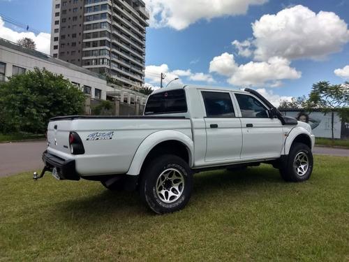 mitsubishi l200 gl 2.5 sport 2012 branca diesel