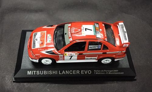 mitsubishi lancer evo rally 1/43 sem caixa.