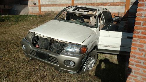 mitsubishi montero 5p sport 2007 accidentada x partes