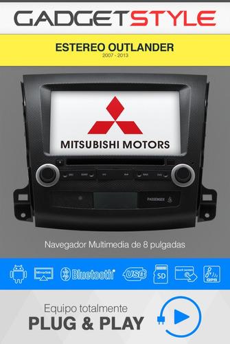 mitsubishi outlander 07-13 android wifi gps dvd usb sd