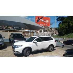 Mitsubishi Outlander 2.0 2016 Branca Teto Couro Automatica