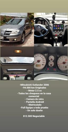 mitsubishi outlander 2006 unico propietario