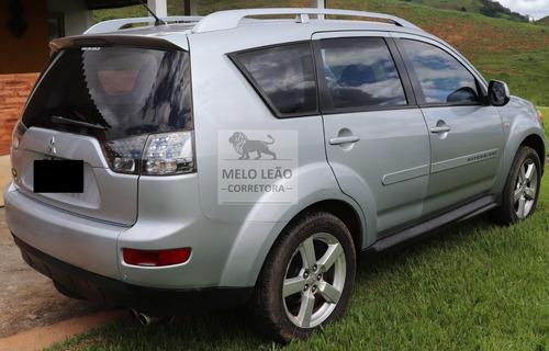mitsubishi outlander 3.0 5p - 09/09 - automática, prata