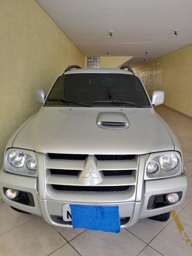 mitsubishi pajero sport 3.5 v6 4x4 flex aut. 5p 2010 prata