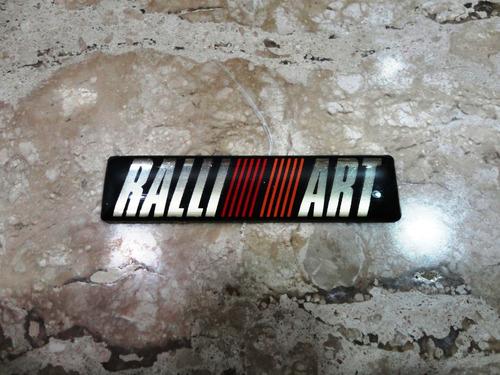 mitsubishi rali art mini emblema t. aproximado 6cm/1,5cm