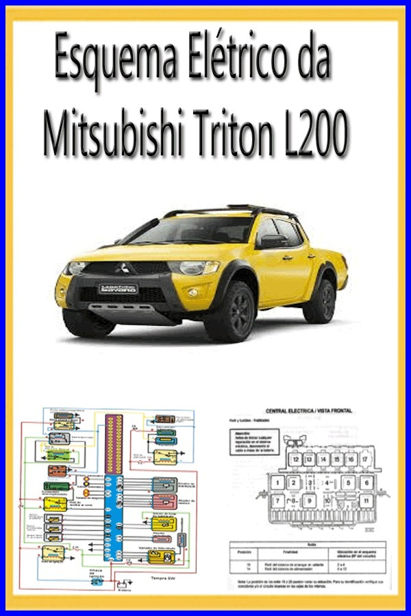 mitsubishi triton l200 esquema el trico tra o e abs r 29 99 em rh produto mercadolivre com br Mitsubishi L200 2003 Mitsubishi L200 2004 Sticker