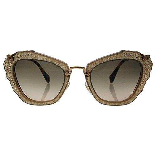 cdb4775df2b04 Miu Miu Mu04qs Mar3d0 Opal Beige Noir Cats Eyes Sunglasses L ...
