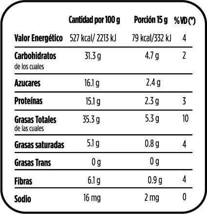 mix de frutos secos tropicales y yoghurt semix 30grs x 12un