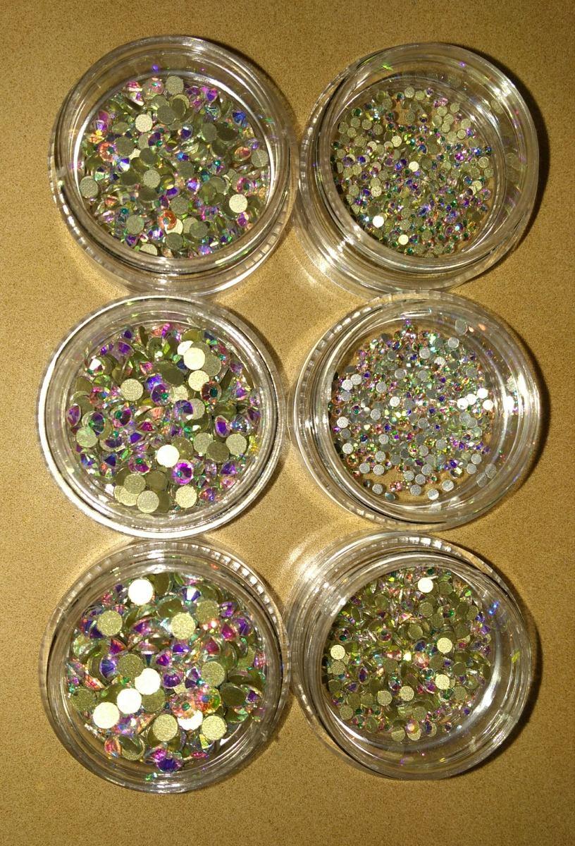 Mix piedras c estuche 100 cristal swarovski decoracion for Piedras swarovski para unas