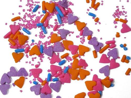 mix sprinkles wilton 710-5366 corazones - peces - azucar etc