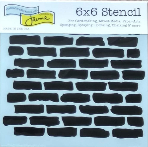 mixed media stencils set  brick, wall, stone, wood gra...