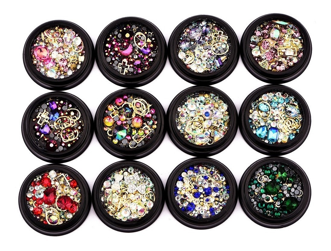 Mixed Style 3d Nail Art Decorations Rhinestone Glitter Nails