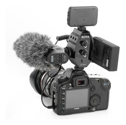 mixer audio mezclador adaptador p/ microfono boya by-mp4