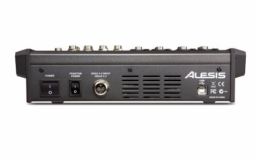 mixer c/ interface de audio 8canais alesis multimix 8 usb fx
