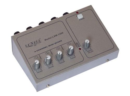 mixer consola 4 canales microfonos y linea by dancis