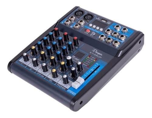 mixer consola 4 canales parquer bluetooth usb efectos cuota