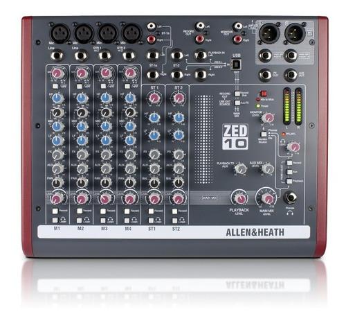 mixer consola allen & heath zed10 usb 6 canales garantia