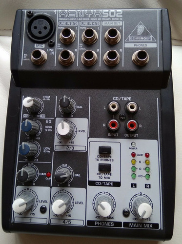 mixer-consola behringer xenyx 502