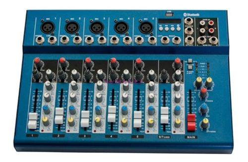 mixer consola mezcladora audio 7 canales efectos winco w-237