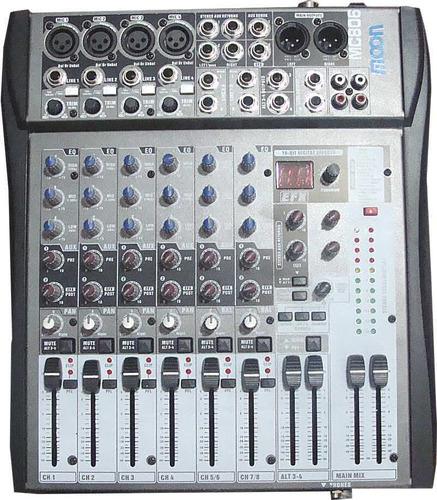 mixer consola moon mc806 8 canales ecco 16 efectos