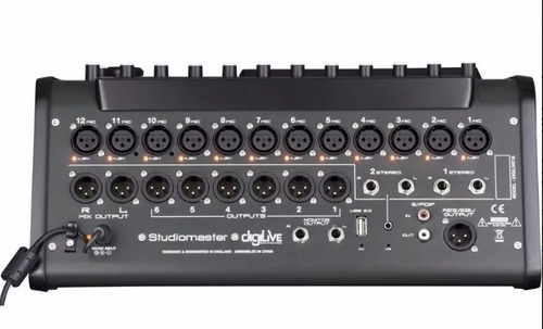 mixer console mesa digital studiomaster digilive 16 canais
