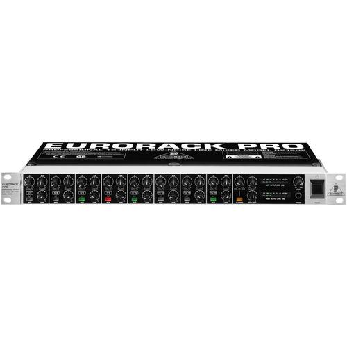mixer de linha de 16 entradas em rack behringer rx1602 110v